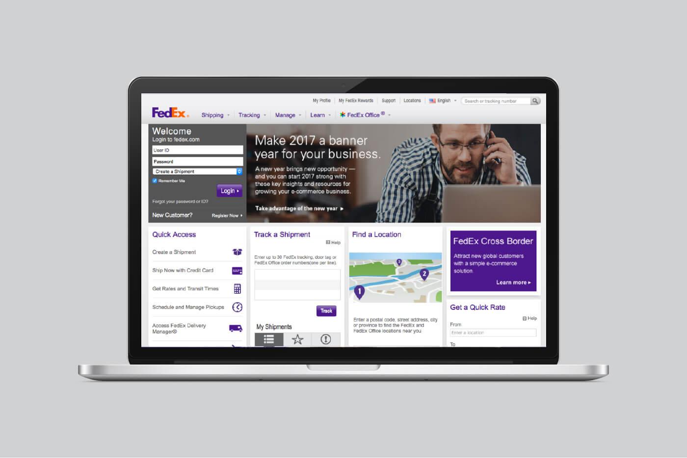 old-fedex-website